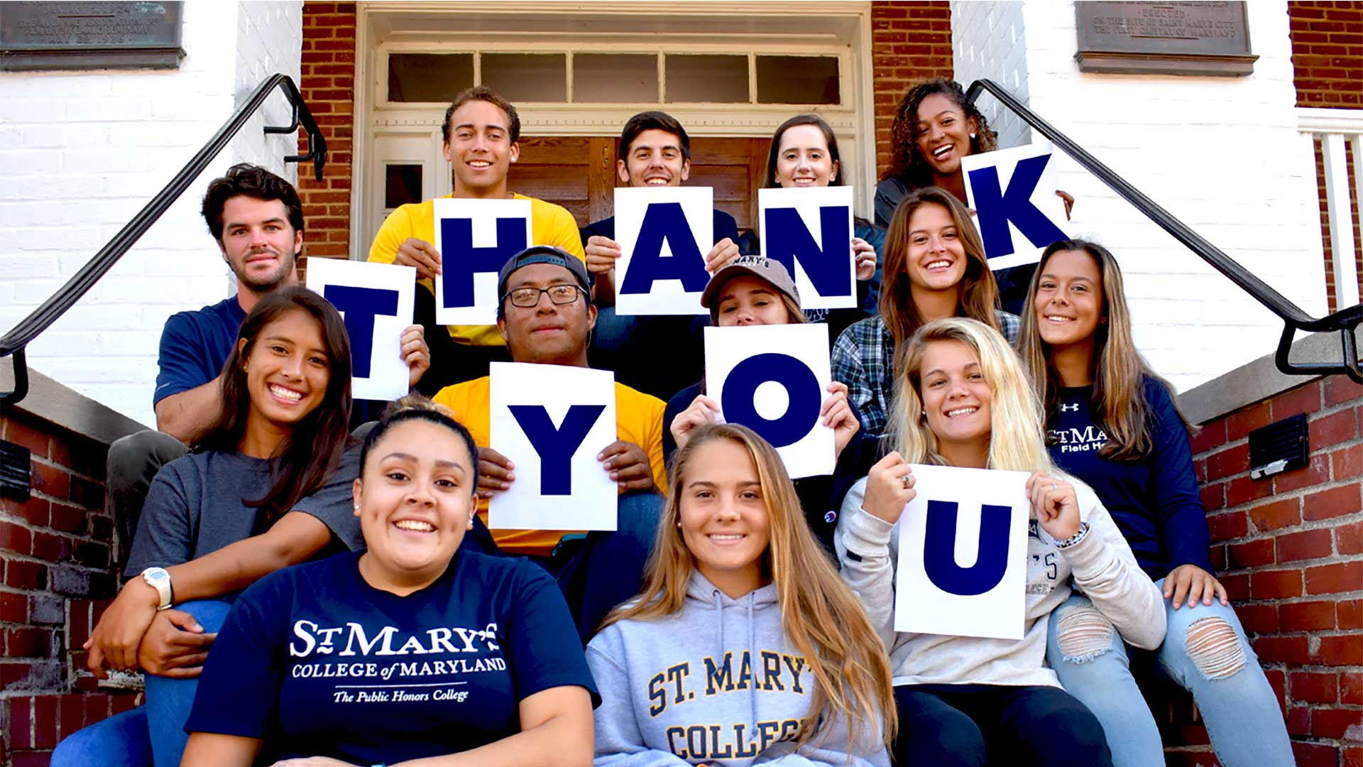 Giving Tuesday SMCM Student Thank You Photo