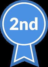 Blue Ribbon, second place
