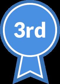 Blue Ribbon, third place