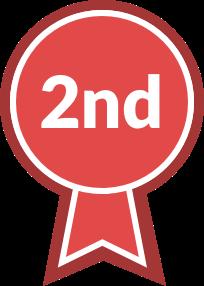 Varsity Sports Ribbon, second place