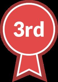 Varsity Sports Ribbon, third place